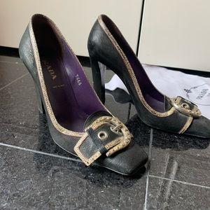 Prada Matt Leather Heels